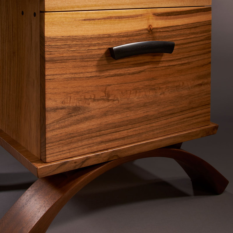 Desk with file drawer